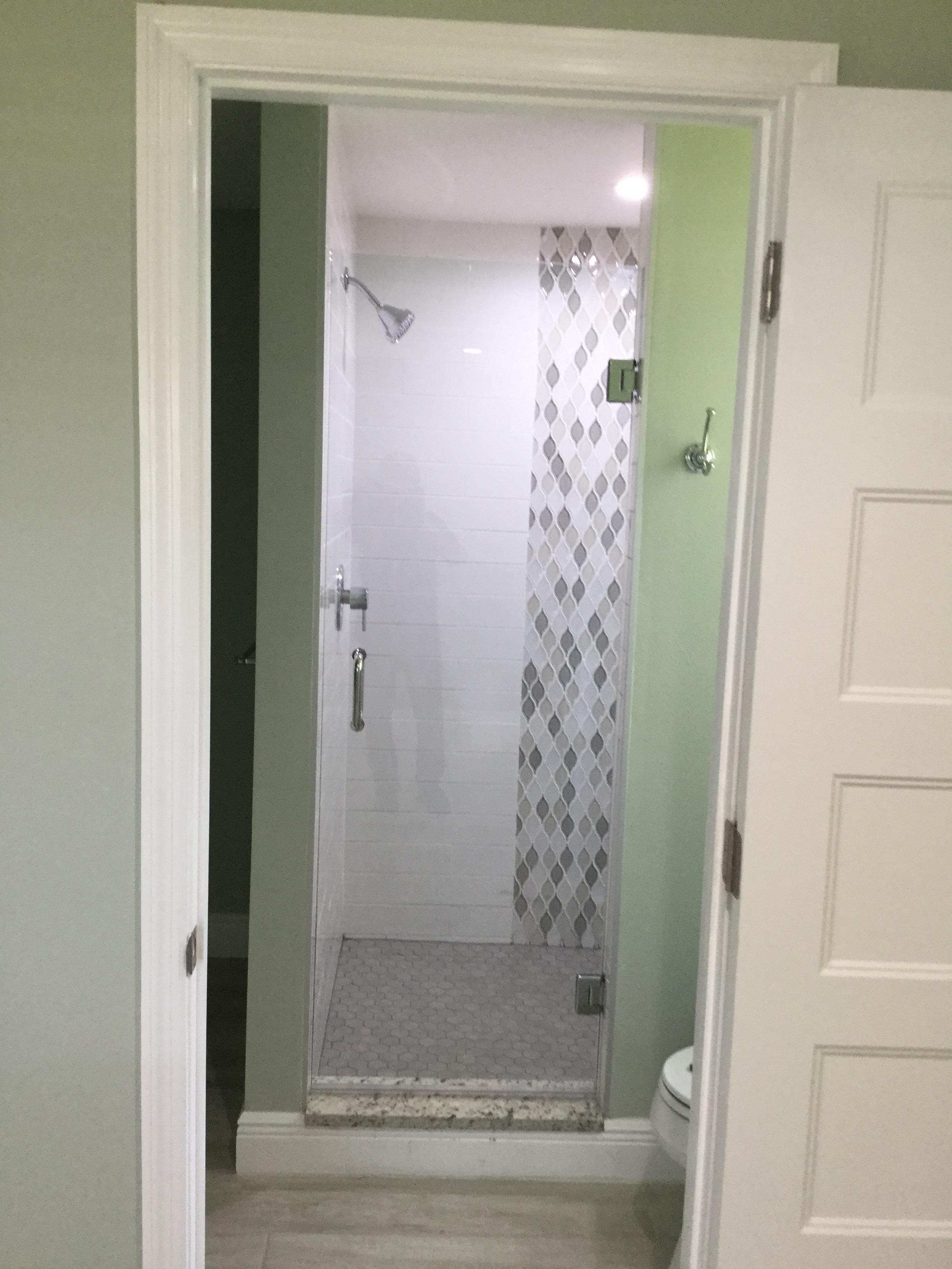 Frameless Single Door Florida Shower Doors