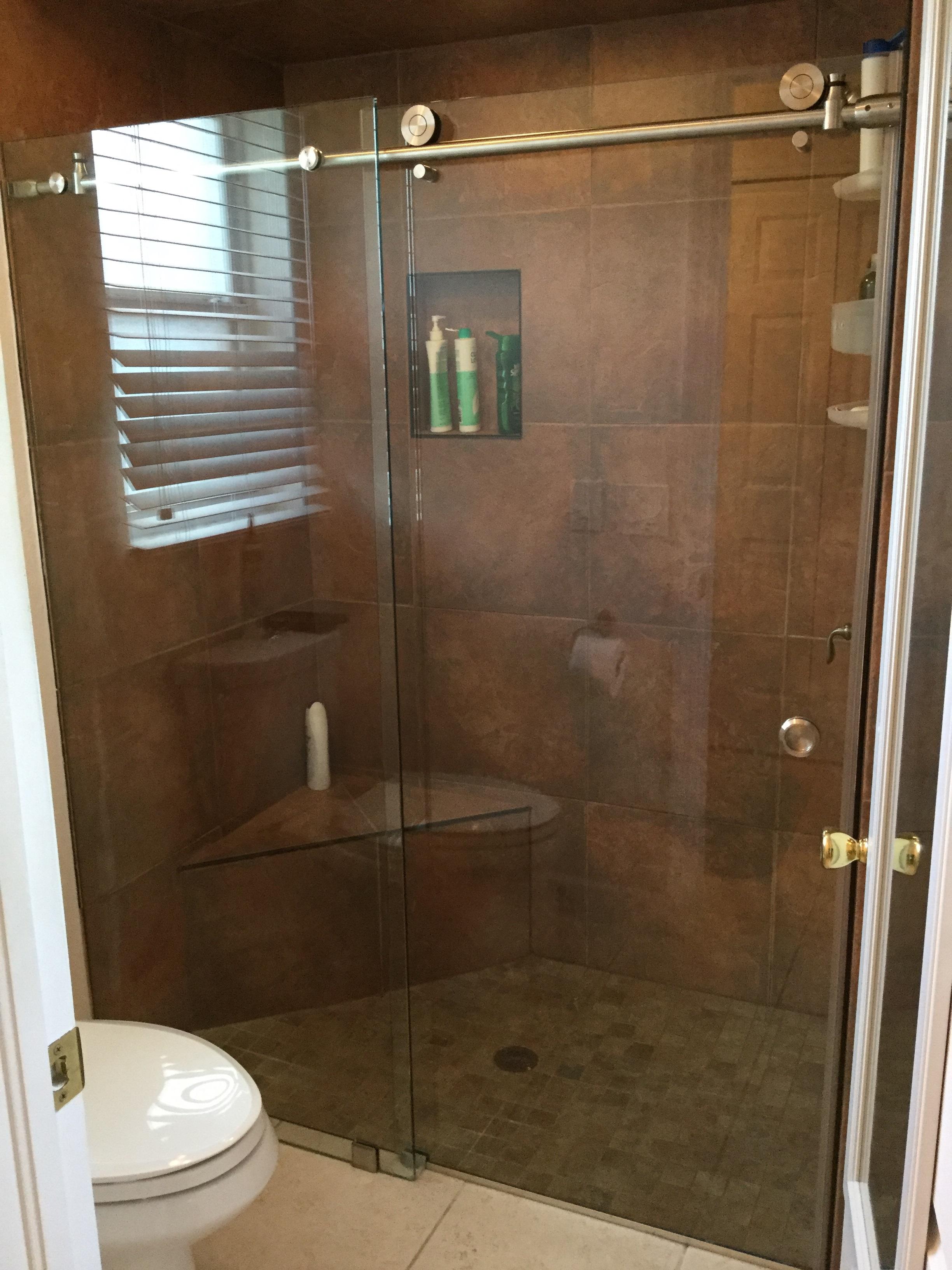Barn Door Rolling Enclosure Florida Shower Doors