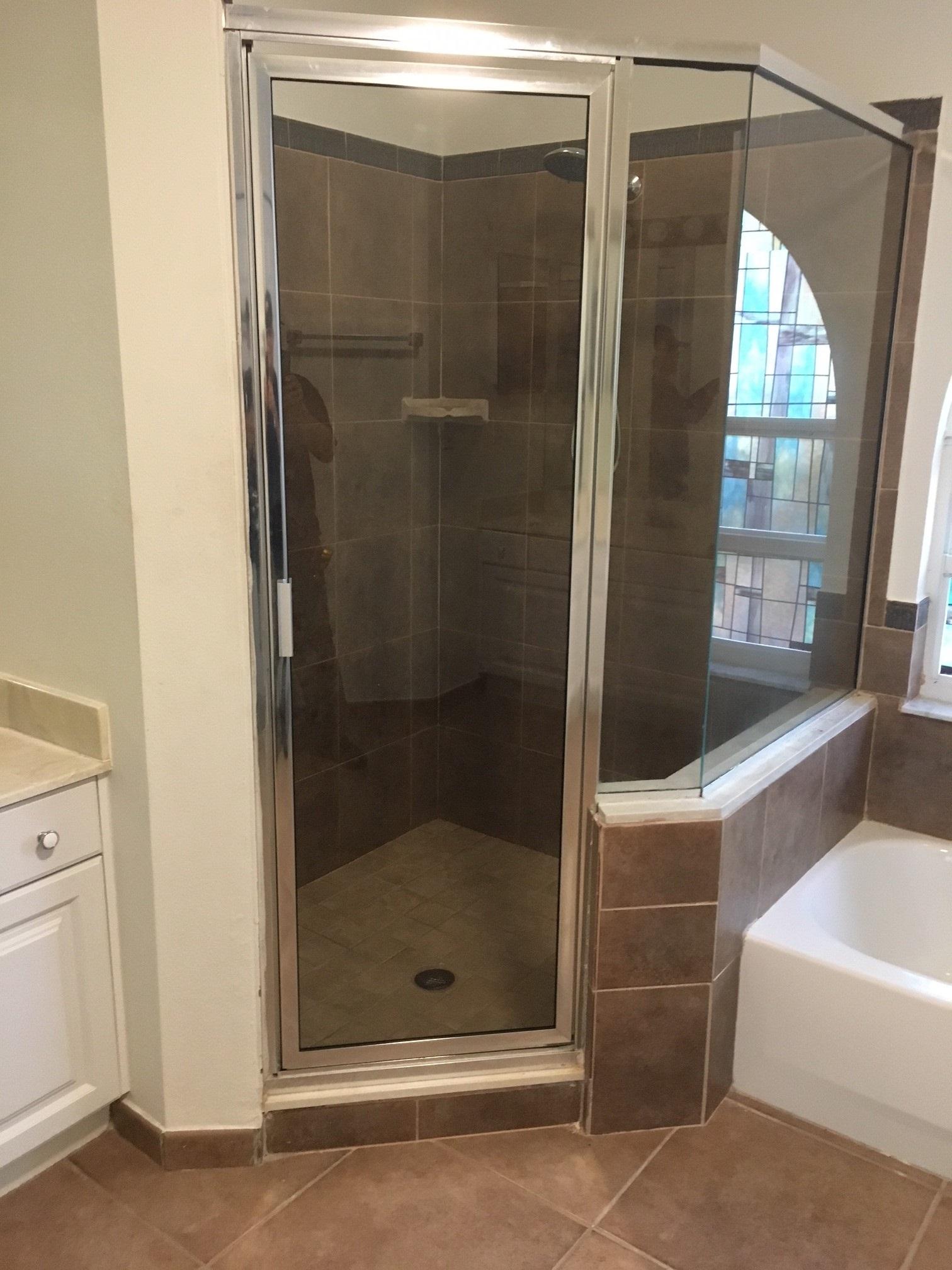 Framed Or Semi Frameless Single Door Florida Shower Doors