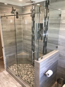 Cascade Frameless Barn Shower Door